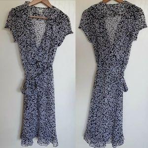 JBS Vintage Dress Sheer V Neck